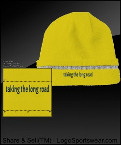 Taking the long road, reflective beanie Design Zoom